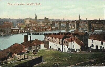 Newcastle on Tyne from Rabbit Banks Vintage Postcard 18.5