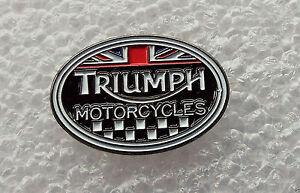 TRIUMPH OVEL MOTOR BIKE PIN BADGE NEW