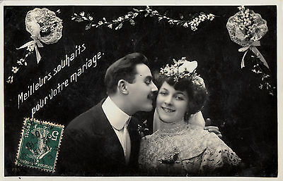 CD87.Vintage Postcard.Best Wishes for your Wedding.Bride and - Best Wishes For Wedding