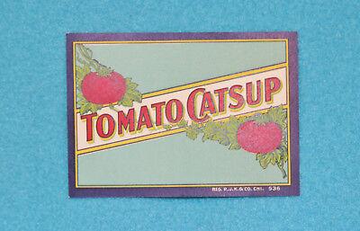 "VINTAGE TOMATO CATSUP LABEL - NEW - 3 5/8"" x 2 5/8"""