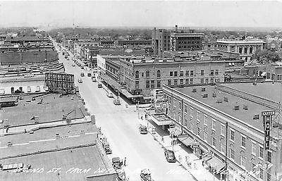 - 1945 Hastings Nebraska NE 2nd St Birdseye Aerial View Real Photo RP Postcard