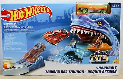 Mattel Hot Wheels Shark Bait Playset w/ Orange Car - Ages 4 to 8 - NEW IN BOX