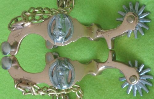 New Black Steel Chihuahua Spurs with Large Rowel