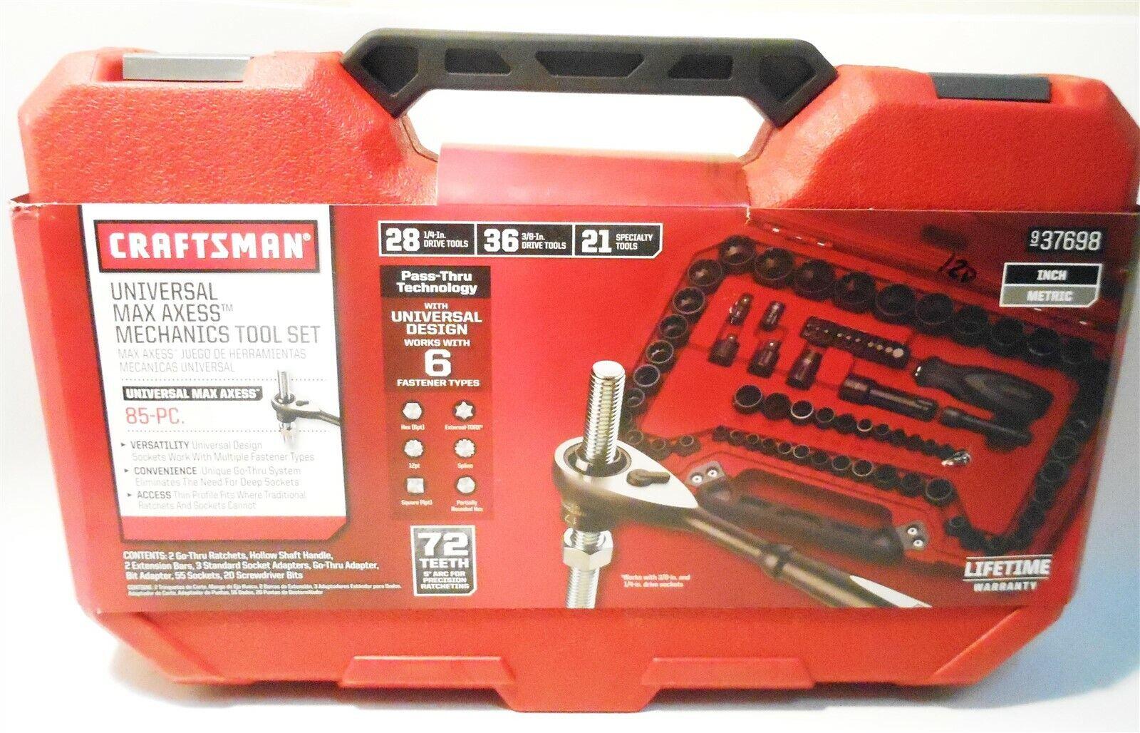 CRAFTSMAN 85-PC Universal MAX AXESS Mechanics Tool Set