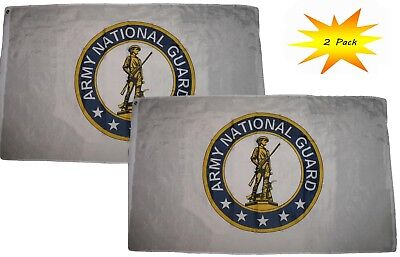 3x5 3'x5' Wholesale Set (2 Pack) Army National Guard Emblem Crest Flag Banner