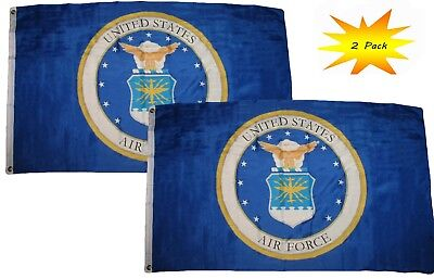 3x5 3'x5' Wholesale Set  USAF Coat of Arms Air Force Emb