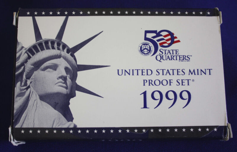 1999-s U.S. Proof Set. Complete and Original in BLUE  mint paper box.
