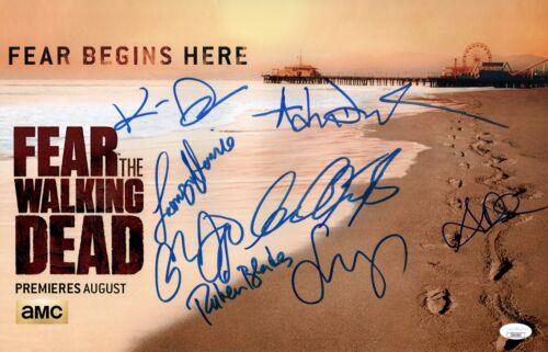 Cliff Curtis FEAR THE WALKING DEAD CAST X8 Signed 11X17 Photo Autograph JSA COA