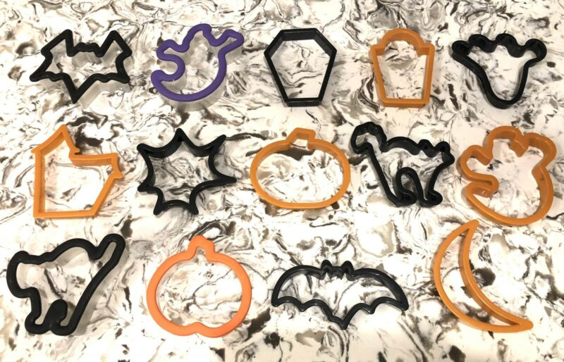 Halloween Plastic Cookie Cutters Mixed  Lot of 14