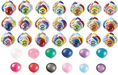 10er Packung Luft Gefüllte Latex Ballons - Große Auswahl - Alter 1-100 ()