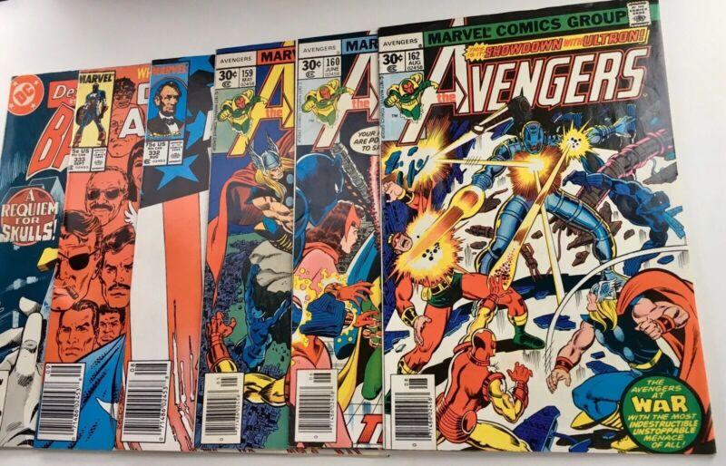 Mixed Comic Book Lot of 6 Marvel DC Titles - Avengers, Captain America & Batman
