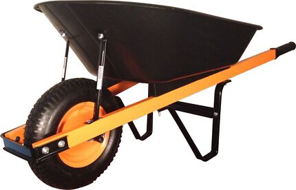 70l wheelbarrow heavy duty poly tray steel solid frame.  Miller Liverpool Area Preview