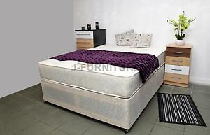 4ft Small Double Divan Bed With Real Orthopaedic Mattress 2 Drawers On Foot End Ebay