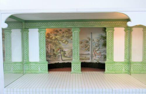 Dollhouse Miniature ROOM BOX - Ancient Egypt or Greece COURTYARD Coastal Scene m