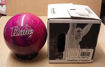 = 14# 4oz  TW 2.2 NOS NIB Bowling Ball Brunswick T ZONE Retired MIXED BERRY