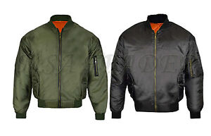 MA1-Mens-Army-Pilot-Biker-Bomber-Fly-Military-Security-Doorman-Harrington-Jacket
