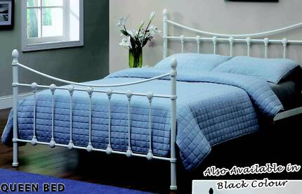 NEW QUEEN BED METAL FRAME. KING, DOUBLE, KING SINGLE AND SINGLE