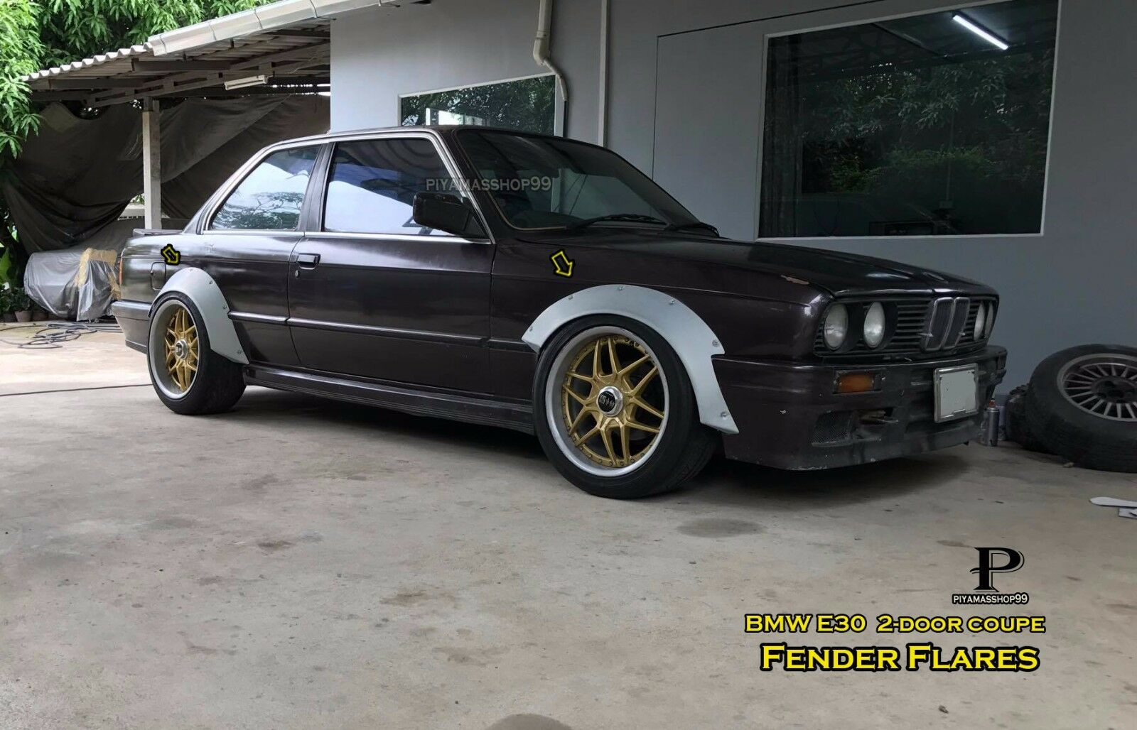 Fender Flares Rocket Bunny Style For Bmw E30 Coupe Materials Sheet Metal Jdm