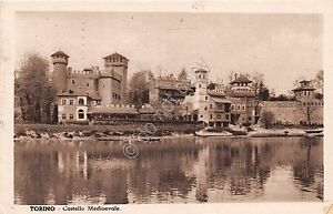 Cartolina-Torino-Castello-Medioevale-1936-DTC-VG