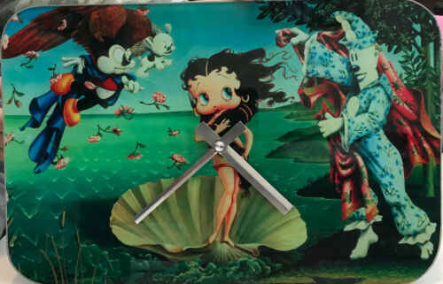 Licensed Betty Boop Animated Cartoon Girl Gift Decor Analog Glass Wall Clock