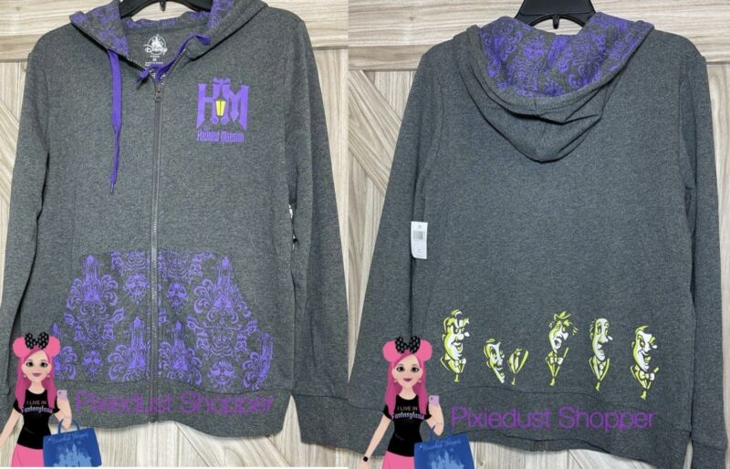 Disney Haunted Mansion Zip Up Ladies Hoodie