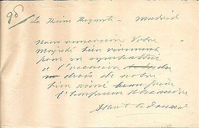 Albert Edward, King Edward VII Autograph Letter Signed 1894 w/ COA