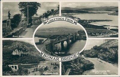 Real photo Bonar bridge 5 views JB white