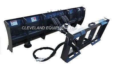 New 72 Manual Angle Compact Tractor Skid Steer Snow Plow Blade Attachment 6