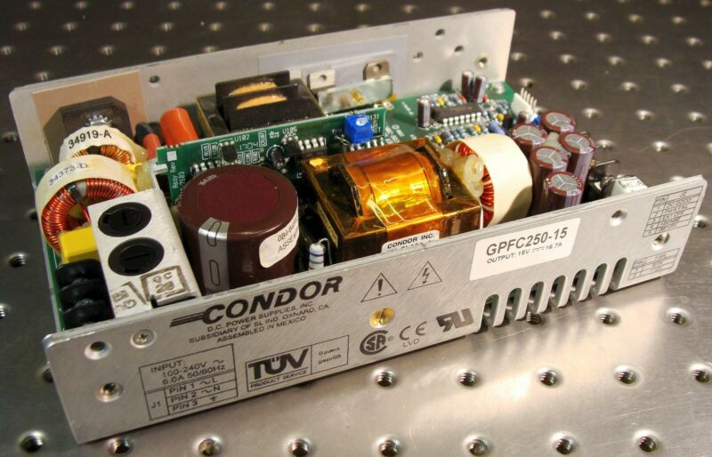 CONDOR GPFC250-15 SWITCHING DC POWER SUPPLY 15 VOLT 16.7 AMP 250 WATT 15VDC 250W