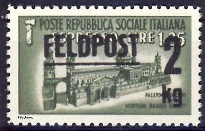 wwII Feldpost Italien MiNr. 662 (*) REPLICA, Fälschung