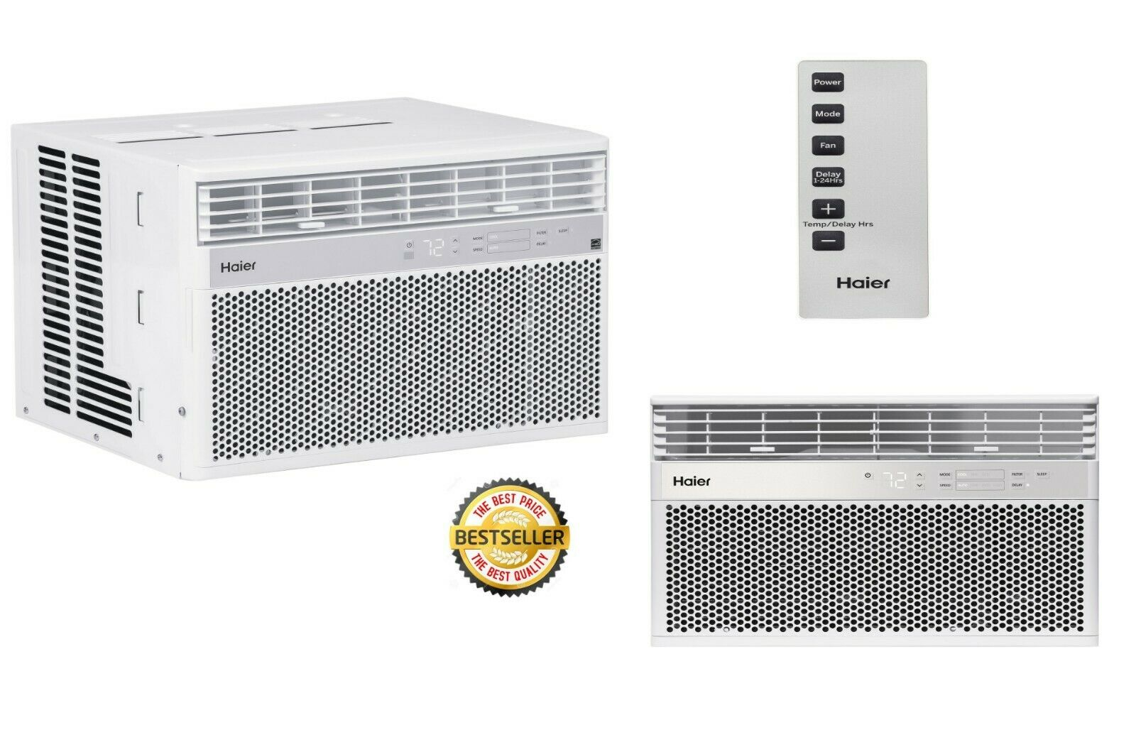 Window Mount Air Conditioner AC Unit Quiet Efficient Remote