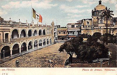 Veracruz México Plaza De Armas ~ Bandera Grande ~ J. C. #553...