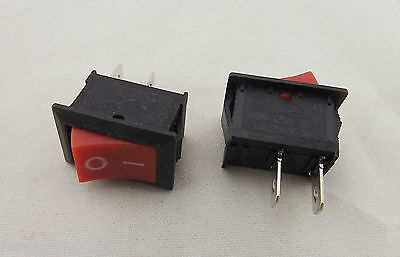 10x 2pins KCD11 On//Off 3A 250V 15x10mm Rocker Power Switch Whit Vv PG