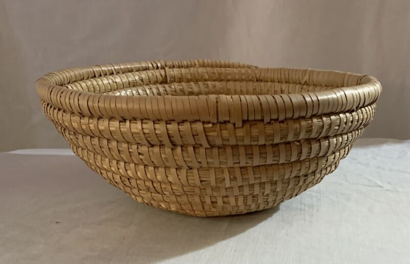 Sweet Grass Basket Handmade Coiled  Boho Farmhouse South Western Decor