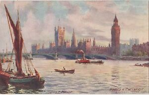 POSTCARD-LONDON-Houses-of-Parliament-Tuck