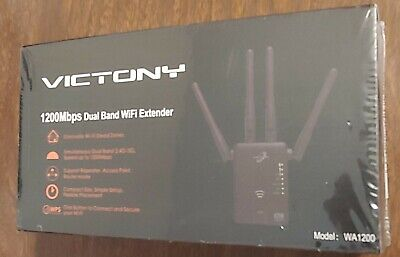 Victony WiFi Range Extender 1200Mbps Dual Band 2.4/5GHz Wi-Fi Signal Booster
