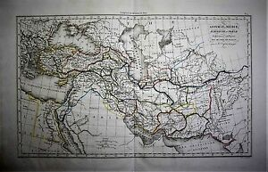 1825-From-Rollin-Atlas-Original-Geographical-Map-ASSYRIE-MEDIE-BABYLONIE-PERSE