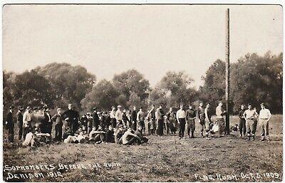 RARE Real Photo Postcard - Denison University Granville OH 1909 Football Game