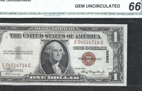 1935A $1 *HAWAII* Brown Seal! ((S-C Block)) WW2 Emergency Currency!