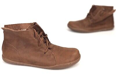 Imter Premium Leather Brown round toe lace up fashion ankle boots Sz Eu 41 Brown Round Toe Lace