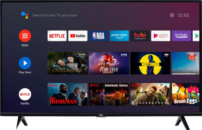 TCL 40S330 40-Inch Class LED 3-Series 1080p - Black (2020 Model)