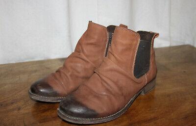 JOSEF SEIBEL UK 6 39 TAN SUEDE LADIES CHELSEA BOOTS ANKLE BOOTS BOOTIES