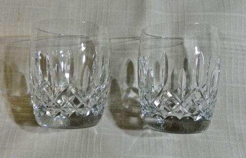 "4- WATERFORD ""LISMORE TRADITIONS"" 4 1/4"", 14 OZ. DOUBLE OLD FASHIONED TUMBLERS"