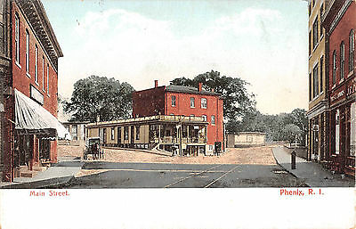c.1905 Stores Main St. Phenix RI post card