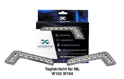 2 x 8 Power SMD LED Tagfahrlicht L-Form DRL TFL für Mercedes ML W163 W164 TFL1