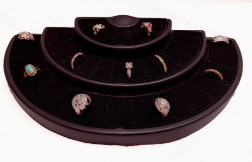 ONE 36 Ring Slot Tiered Ring Display Black Jewelry Showcase rings