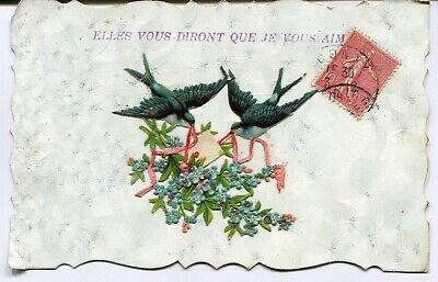 CPA - Carte Postale - Fantaisie - Elles vous diront que je vous aime - Oiseaux (
