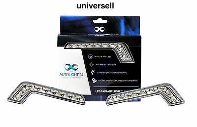 LED Tagfahrlicht L-Form Curve-Design 12V 8 x SMD LEDs R87 Modul