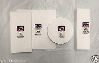 White Color 4 Pcs Craft Foam Fun Sheets, Block, Disc For Craft ART Set (4 - Fun Foam Sheets