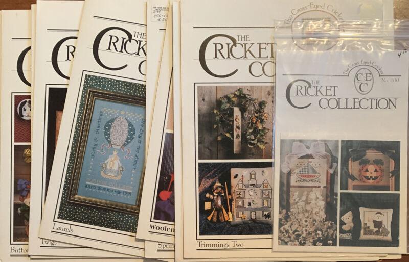 19 Cricket Collection #2 Cross Stitch Leaflets Destash Sampler Lot W/Halloween